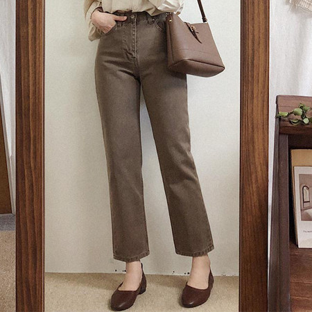 Marlon Brown Slim Pants (Brown color) ♥